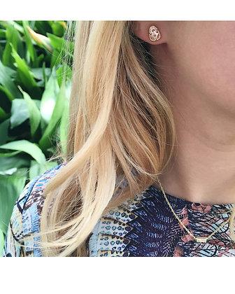 Hazel Stud Earrings in Rose