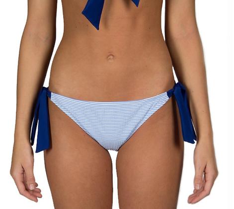Seersucker Tie Side Bikini Bottom