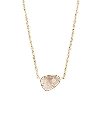Hayden Pendant Necklace in Rose