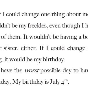 How Oliver Celebrates his July 4 Birthday
