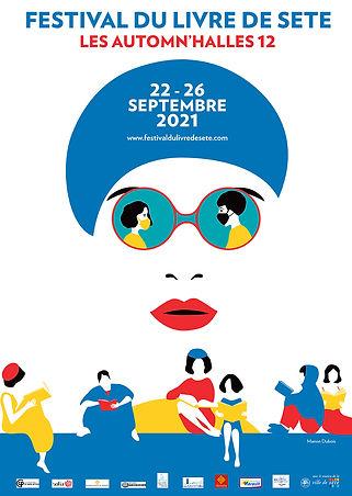 Affiche du festival du livre de Sete 2021