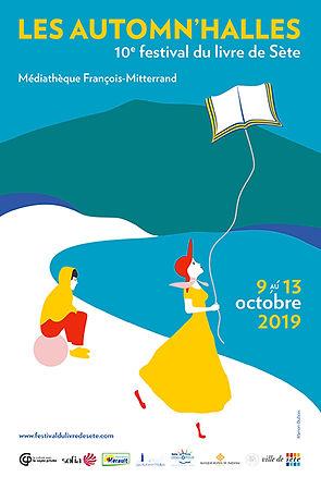 Affiche du festival du livre de Sète 2019