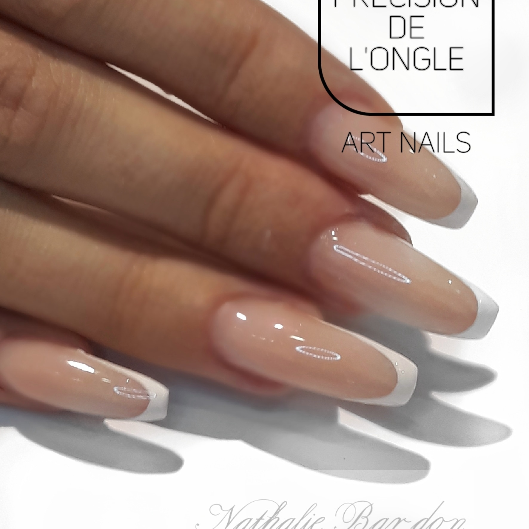 Ongles chablon french manucure