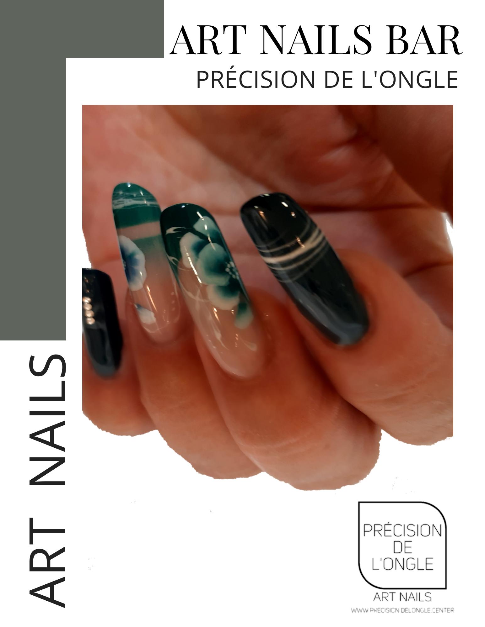 Pose d'ongle chablon  Longueur 4,5,6,7