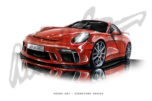 PORSCHE GT3 PRINT