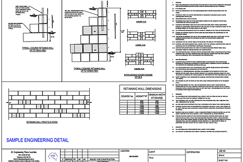 Limestone Retaining Wall - Structural Engineer Certified