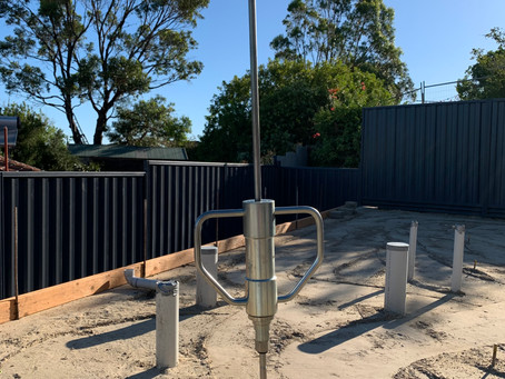 Compaction testing certificate using the Perth Sand Penetrometer (PSP)