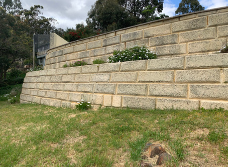Retaining wall structural inspection in Perth Hills - clay soil considerations for limestone walls