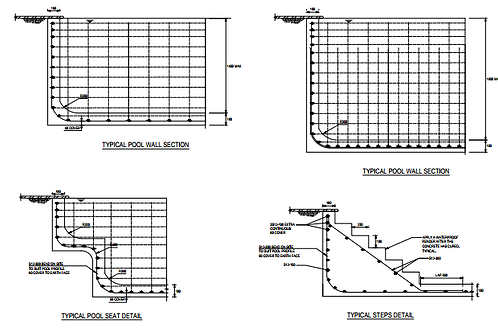 Concrete Swimming Pool Certified Structural Engineering Drawings