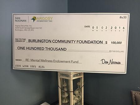 Burlington Community Foundation, Argosy, Charity, Burlington Charity
