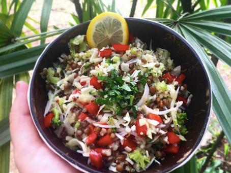 Salade lentilles/quinoa