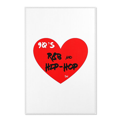 "SW ""Love Hip Hop and R&B"" Area Rugs"