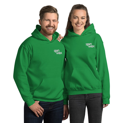 Spin Wax Classic Unisex Embroidered Hoodie