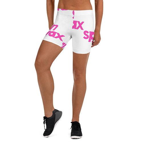 "Spin Wax ""Busy Pink Logo"" Biker Shorts"