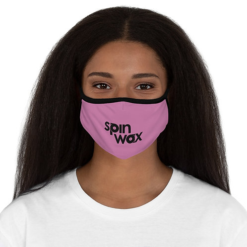 Spin Wax Pink Fitted Polyester Face Mask