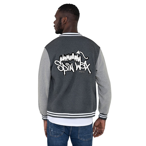 "Spin Wax ""Philly"" Men's Letterman Jacket"