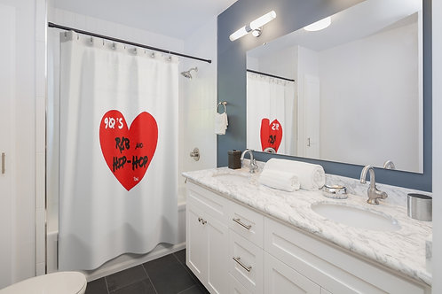 """SW """"Love Hip Hop and R&B"""" Shower Curtains"""