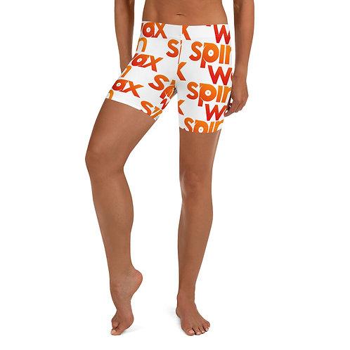 Spin Wax Logo Biker Shorts