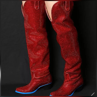 Fire Sequin Boot
