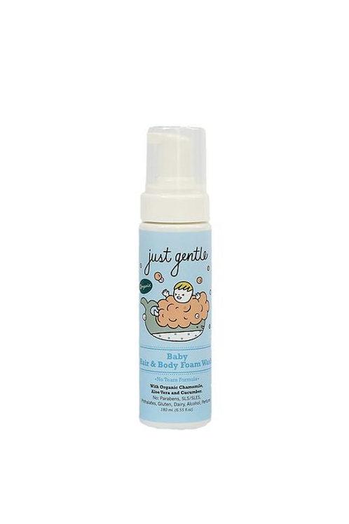 Just Gentle Organic Baby Body & Hair Foam Wash