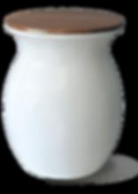 Cubo de basura de diseño blanco y madera, design waste container white and wood