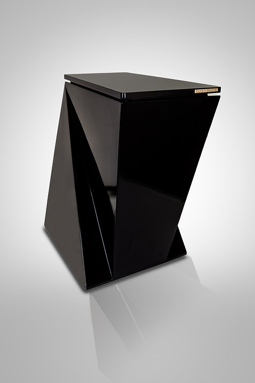 Decorative waste bin. Model DESIGN.me ultrablack:ultrablack