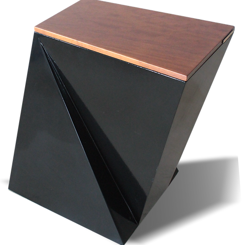 Decorative waste bin. Model DESIGN.me black: iroko