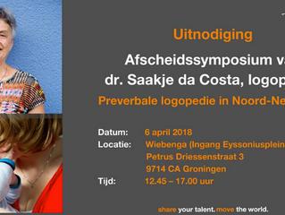 Symposium voor onze collega Saakje