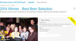 2014 Winner Best Beer Selection