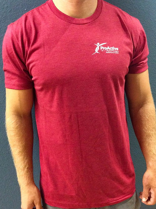 Men's ProActive T-Shirt in Cardinal