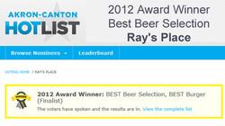 2012 Winner Best Beer Selection