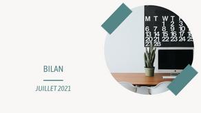 Bilan de juillet 2021