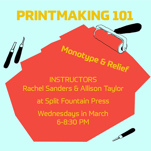 PRINTMAKING 101: Monotype & Relief