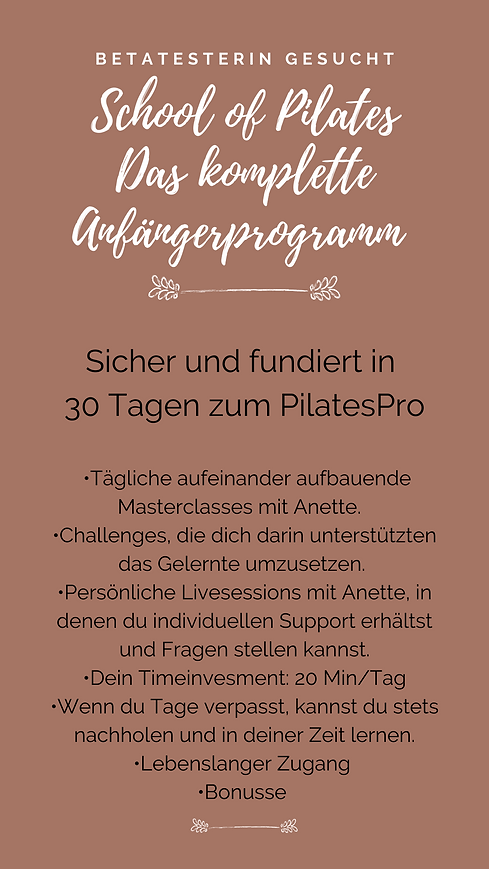 Pilates - Anfängerprogramm