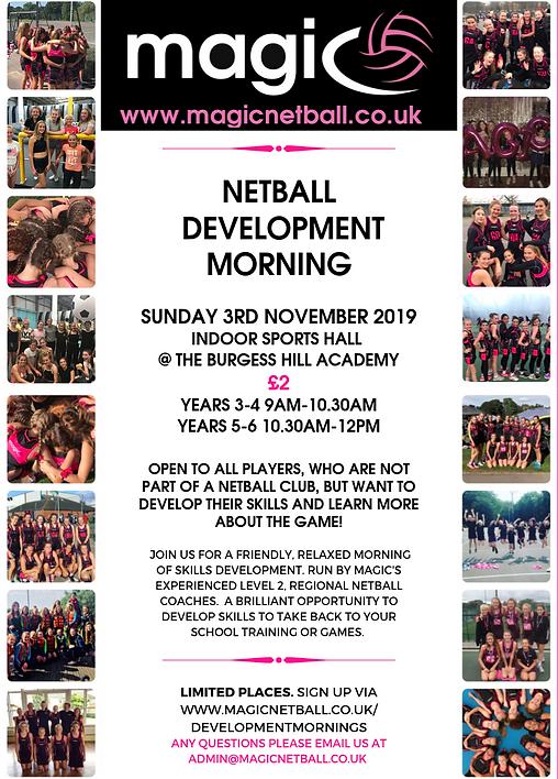 Netball Development Morning- November!-2