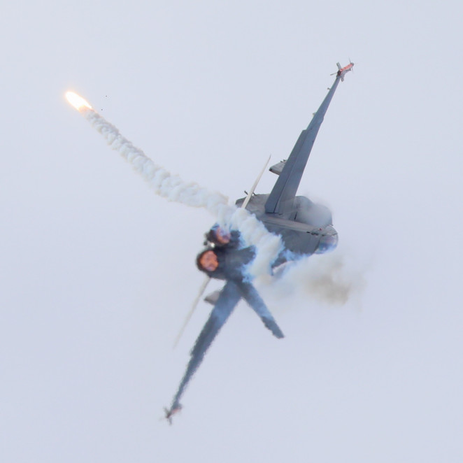 Sending away flares