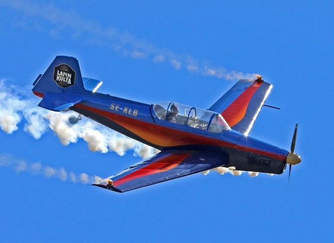 Vintage Zlin aerobatic plane