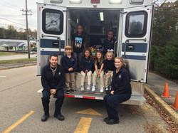 Crew members visit Carlisle School