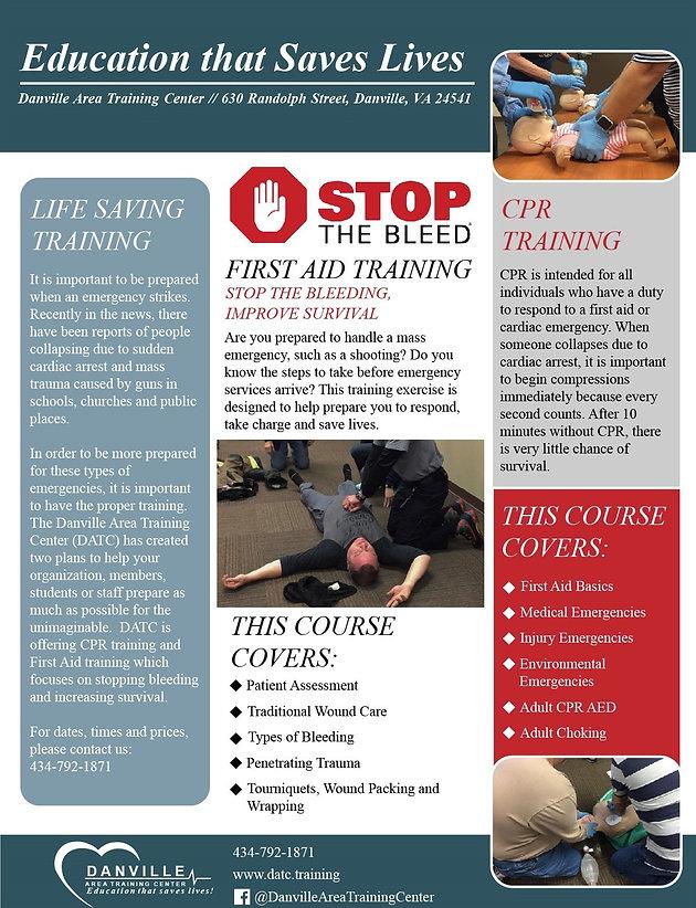DATC to Offer Mass Emergency Training