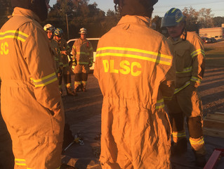 Crew members prepare for MVC with extrication training