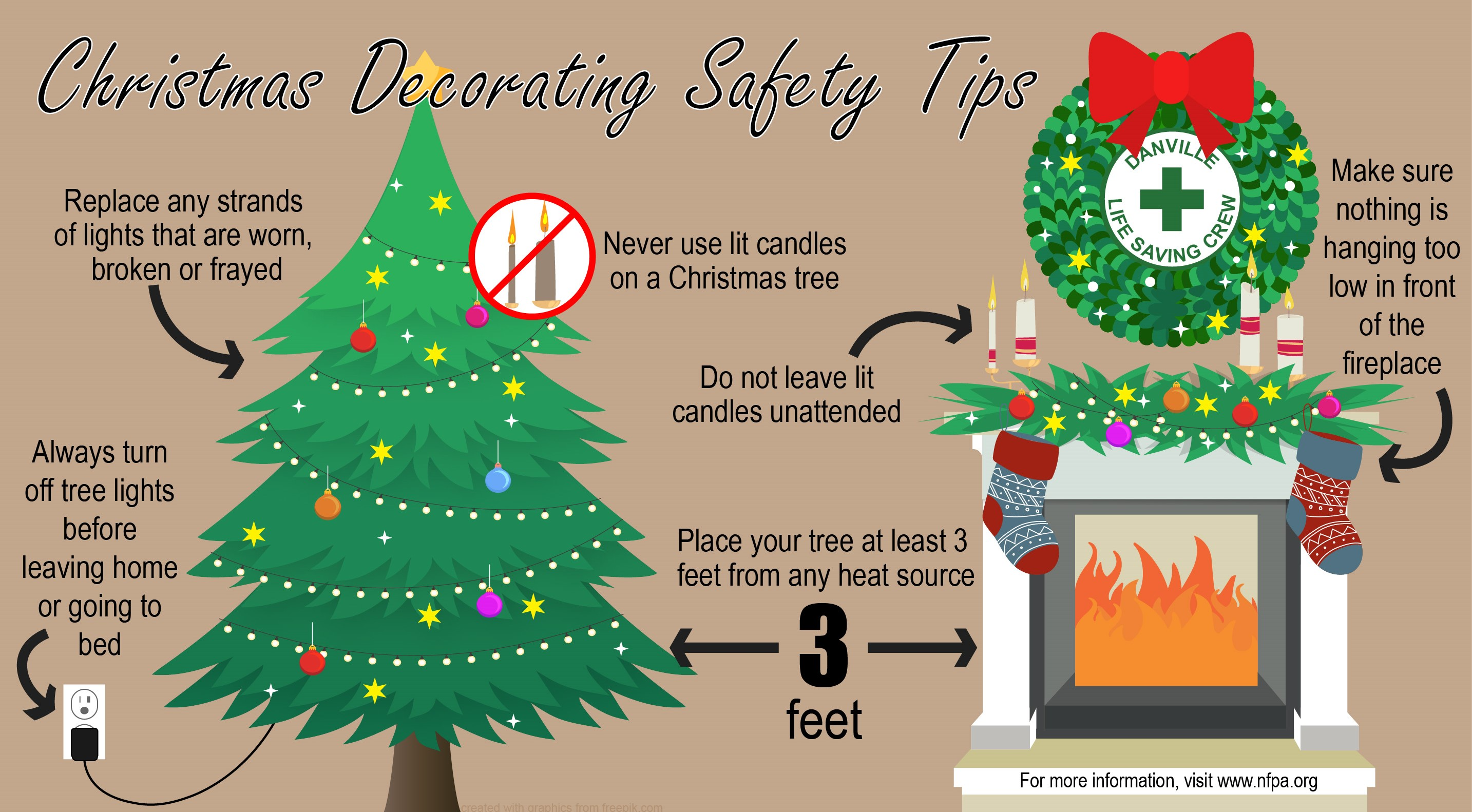 christmas decorating safety tips dlsc org - Christmas Decorating Safety Tips
