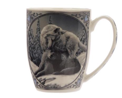 Lisa Parker Snow Kisses Wolf Mug