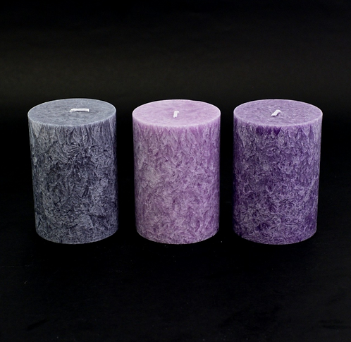 Set of 3 Mindfulness Candles (Unscented)