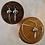 Thumbnail: Multi Colour Mosaic Bear & Silver Feather - Earrings