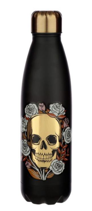Skulls and Roses Reusable Stainless Steel Hot & Cold Thermal Insulated Drinks Bo
