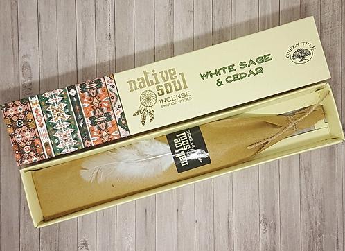 Native Soul White Sage & Cedar Incense Sticks