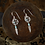 Thumbnail: Small Dream catcher With Turquoise - Earrings