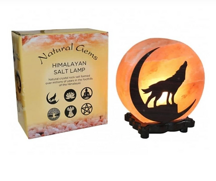 Wolf Design Salt Lamp