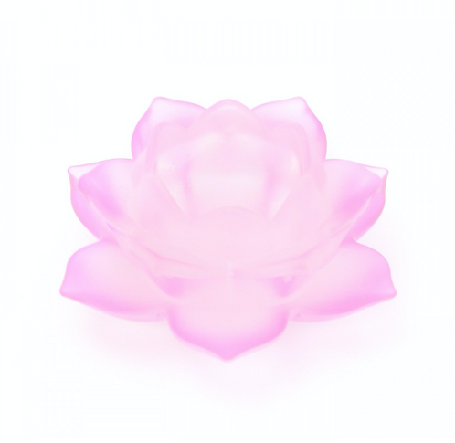 Pink Lotus Flower Glass Tealight Holder