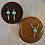 Thumbnail: Turquoise Zuni Bear & Feather - Necklace